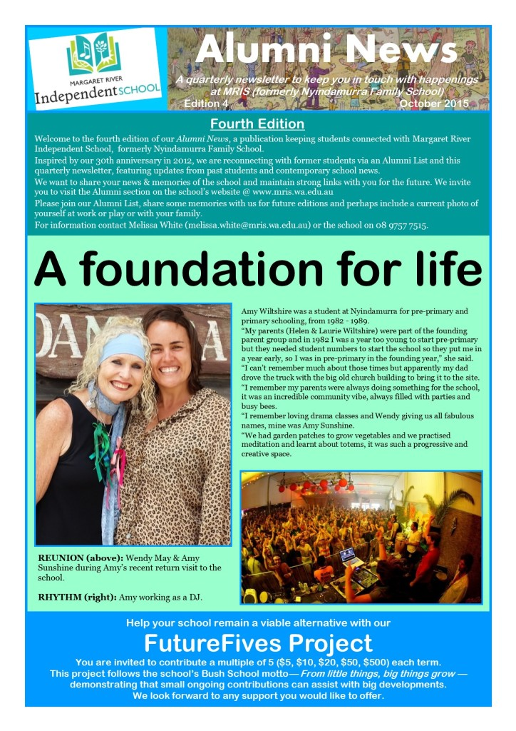 Alumni Newsletter - Edition 4 October 2015 Pg1