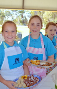 Salli Howden-Woodland and Mia Coleman helped serve up the delicious High Tea.