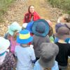 Little Red Riding Hood stops for a chat with Year 1.