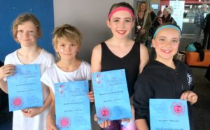 DANCE DUOS (l-r): MRIS Year 6 students Kiva Cresswell, Jazz Morwitzer, Mia Coleman and Salli Howden-Woodland with their Eisteddfod certificates.