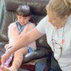 Summer ready: Lois Barugh used a  compression bandage on Charley (Pre)