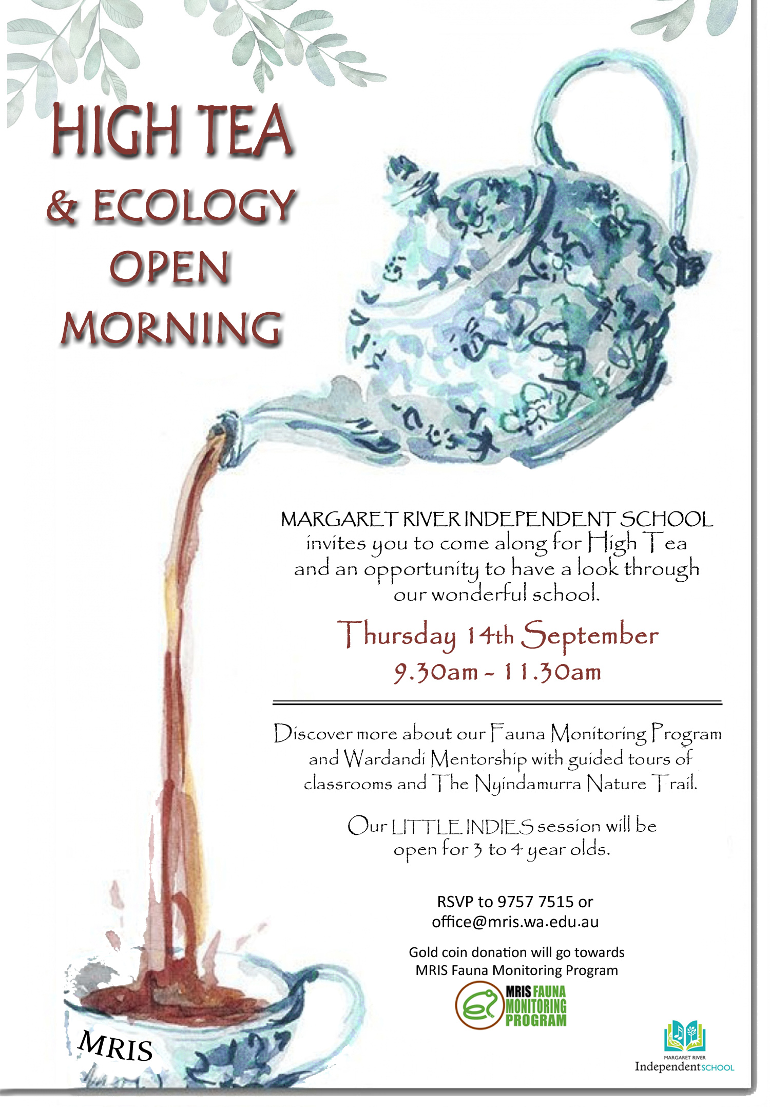 High Tea And Ecology Open Morning 2017 Margaret River